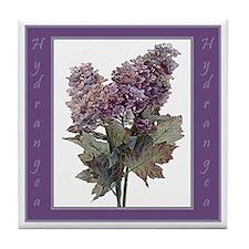 Purple Hydrangea Tile Coaster