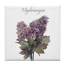 Purple Hydrangea Flower Tile Coaster
