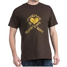 Gold Ribbon of Words T-Shirt