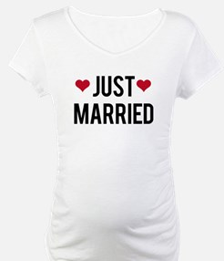 just married with two red hearts Shirt