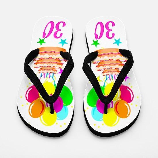 30TH PARTY Flip Flops