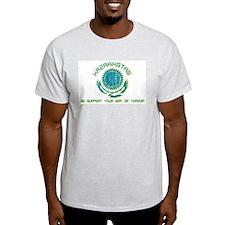 Kazakhstan - We Support Your Ash Grey T-Shirt
