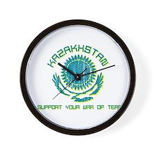 Kazakhstan - We Support Your Wall Clock