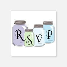 RSVP text design with mason jars Sticker