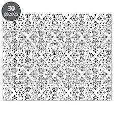 Black & White Damask #23 Puzzle