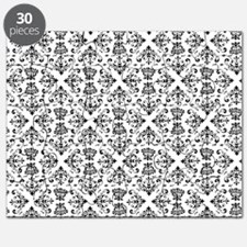 Black & White Damask #23 Puzzle