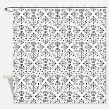 Black & White Damask #23 Shower Curtain