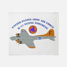 USAAF - B-17 Flying Fortress Throw Blanket
