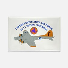 USAAF - B-17 Flying Fortress Rectangle Magnet