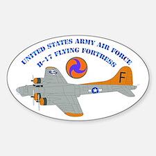 USAAF - B-17 Flying Fortress Sticker (Oval)