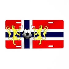 Norwegian Football Flag Aluminum License Plate