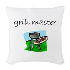 grill master.bmp Woven Throw Pillow