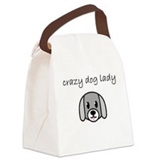 crazy dog lady.PNG Canvas Lunch Bag
