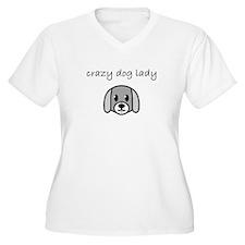 crazy dog lady.PNG Plus Size T-Shirt