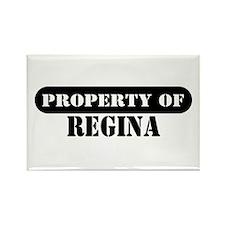 Property of Regina Rectangle Magnet