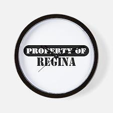 Property of Regina Wall Clock