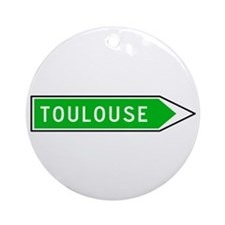 Roadmarker Toulouse - France Ornament (Round)