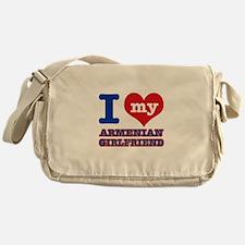 I love my Armenian Girlfriend Messenger Bag