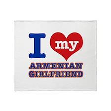 I love my Armenian Girlfriend Throw Blanket