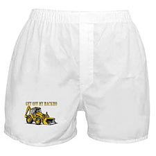 Off My Backhoe Boxer Shorts