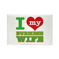 I love my Burmese Wife Rectangle Magnet