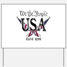 USA 2 Yard Sign