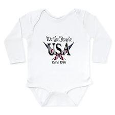 USA 2 Long Sleeve Infant Bodysuit