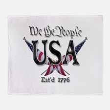 USA 2 Throw Blanket