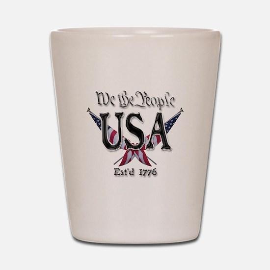 USA 2 Shot Glass