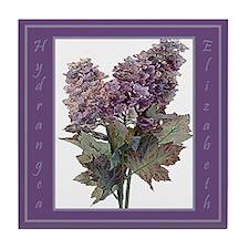 Elizabeth Hydrangea Floral Tile Coaster