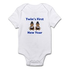 Twins First New Year African Infant Bodysuit