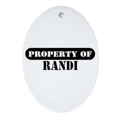 Property of Randi Oval Ornament