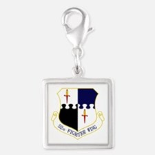 52nd FW Silver Square Charm