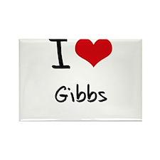 I Love Gibbs Rectangle Magnet