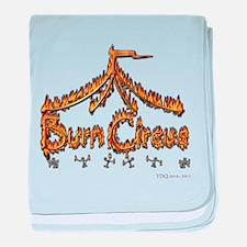 Burning man baby blanket