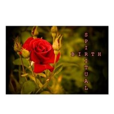 Spiritual Birth Rose and Cross Postcards (Package