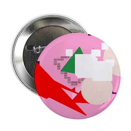 "Pink Geometry 2.25"" Button (100 pack)"