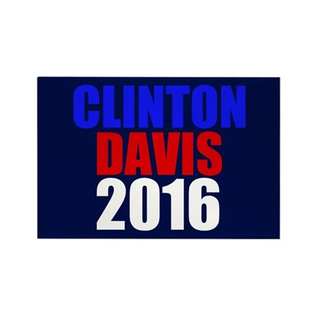 Clinton/Davis 2016 Rectangle Magnet