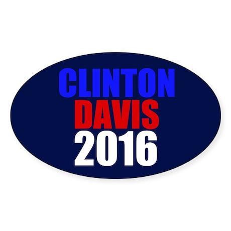 Clinton/Davis 2016 Sticker (Oval)