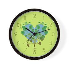 Leaf And Vine Heart Wall Clock
