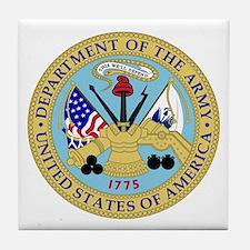 Army Emblem Tile Coaster