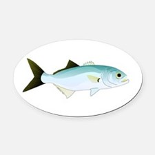 Bluefish Oval Car Magnet