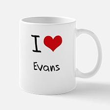 I Love Evans Mug