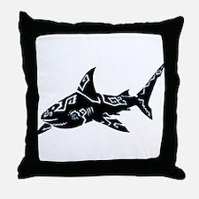 shark_BLACK.png Throw Pillow