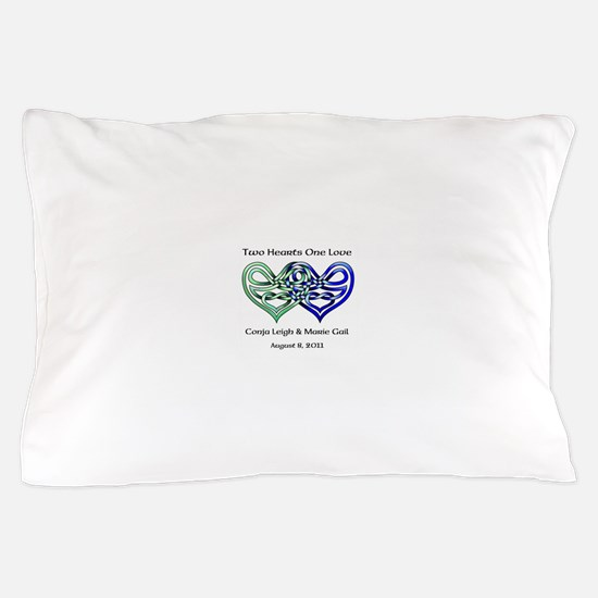 Two Hearts Pillow Case