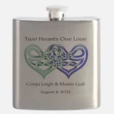 Two Hearts Flask