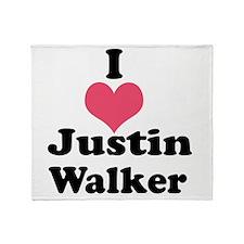 I Heart Justin Walker 1 Throw Blanket