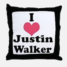 I Heart Justin Walker 1 Throw Pillow