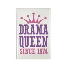 Drama Queen Since 1974 Rectangle Magnet (10 pack)