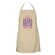 Drama Queen Since 1974 Apron